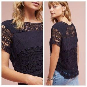 ANTHRO: Deletta Marilyn Crocheted Top